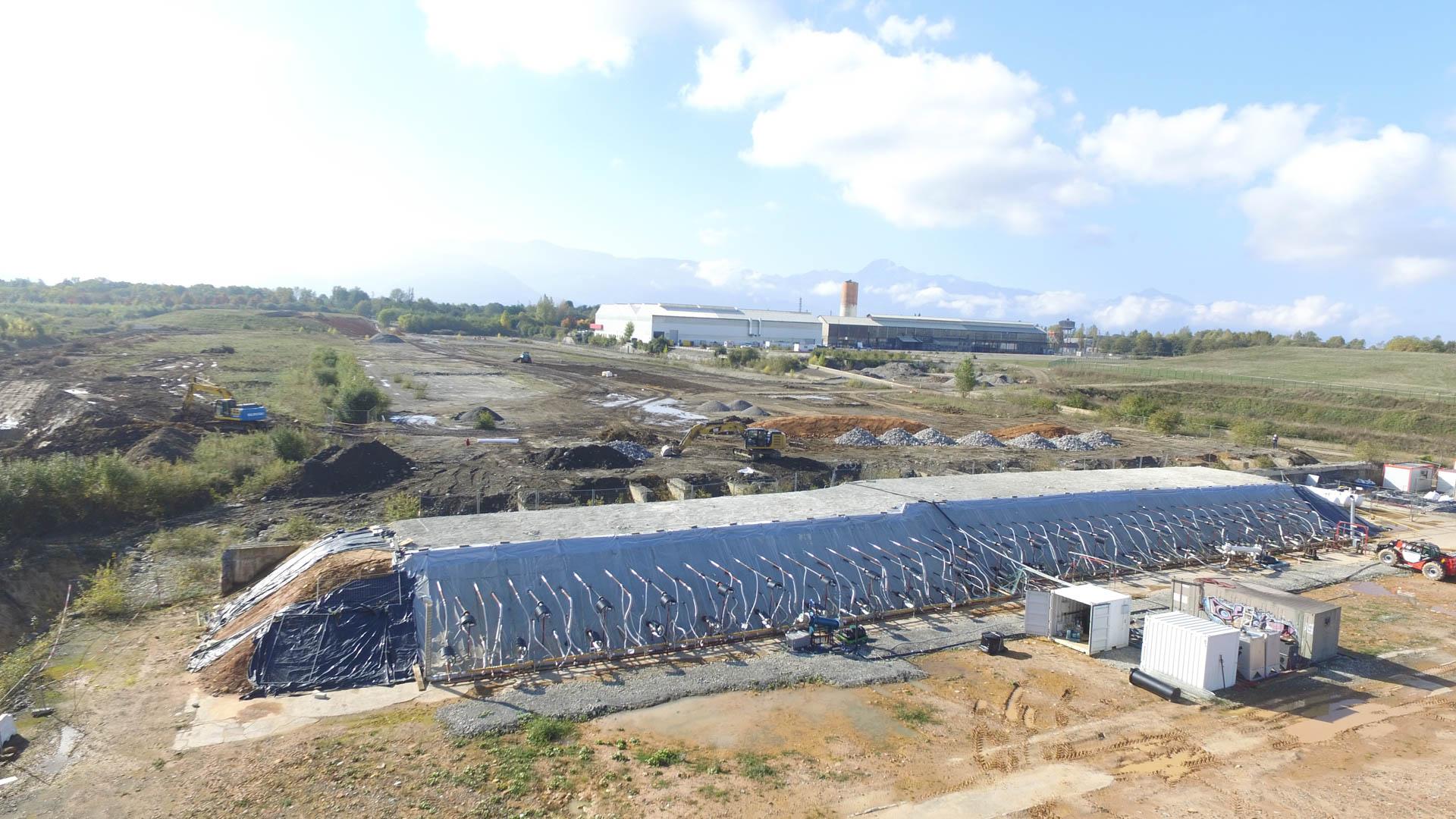 Technique de désorption thermique de sols pollués sur le chantier de l'usine de Lannemezan