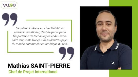 Témoignage de Mathias SAINT-PIERRE, chef de projet international chez VALGO, entreprise de dépollution