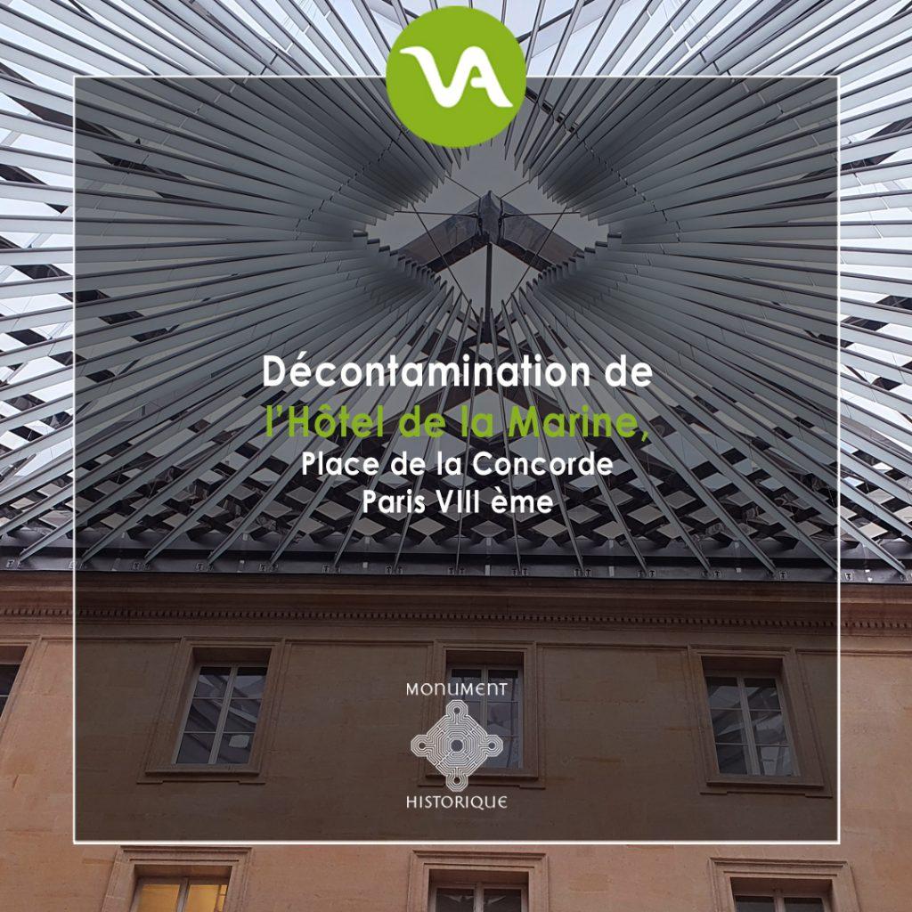 Expert en désamiantage, VALGO intervient sur le retrait d'amiante et de plomb de l'Hôtel de la Marine, à Paris